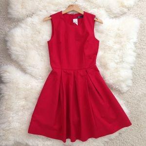 nwt gap classic true red flared a line dress